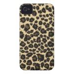 Caso del iPhone 4 del estampado leopardo