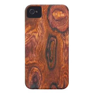 Caso del iPhone 4 del final de Cocobolo (madera) Case-Mate iPhone 4 Cárcasas