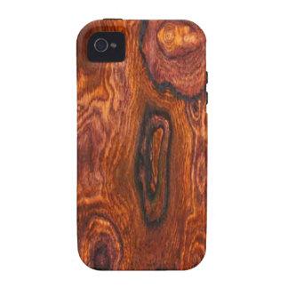 Caso del iPhone 4 del final de Cocobolo (madera) iPhone 4 Fundas