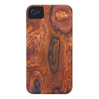 Caso del iPhone 4 del final de Cocobolo (madera) iPhone 4 Case-Mate Cárcasa