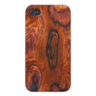 Caso del iPhone 4 del final de Cocobolo (madera) iPhone 4 Carcasa