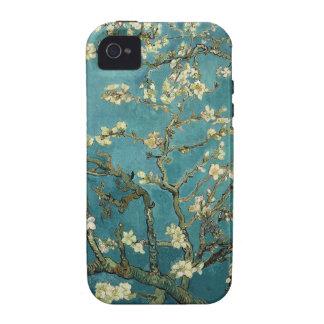 Caso del iPhone 4 del flor de la almendra iPhone 4 Fundas