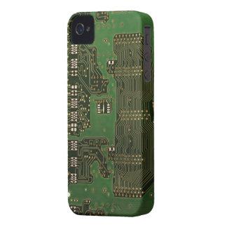 Caso del iPhone 4 del fondo de la placa de circuit iPhone 4 Case-Mate Protectores