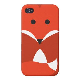 Caso del iPhone 4 del Fox rojo iPhone 4/4S Fundas
