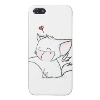 Caso del iPhone 4 del gatito del Luff iPhone 5 Carcasas