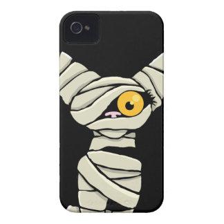 Caso del iPhone 4 del gato de la momia de Hallowee Case-Mate iPhone 4 Carcasa