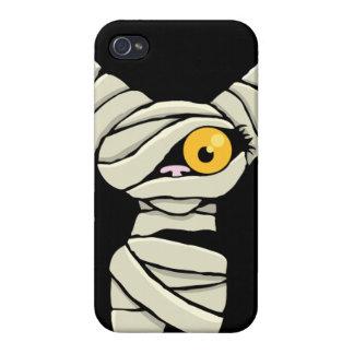 Caso del iPhone 4 del gato de la momia de Hallowee iPhone 4 Carcasa