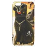 Caso del iPhone 4 del gato negro del gato del pira