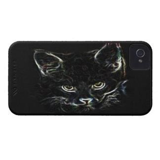 Caso del iPhone 4 del gato negro Funda Para iPhone 4 De Case-Mate