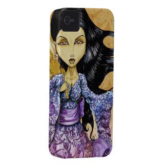 Caso del iPhone 4 del geisha de la lluvia Carcasa Para iPhone 4 De Case-Mate