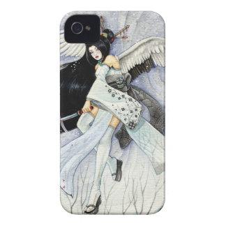 Caso del iPhone 4 del geisha de la nieve y de las Case-Mate iPhone 4 Cobertura