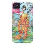 Caso del iPhone 4 del geisha de Maiko del verano iPhone 4 Case-Mate Cobertura