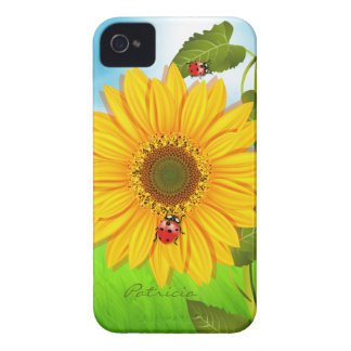 Caso del iPhone 4 del girasol Case-Mate iPhone 4 Protectores