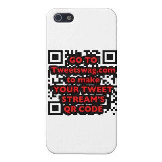 Caso del iPhone 4 del gorjeo del código de QR iPhone 5 Carcasa