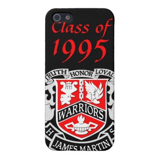 Caso del iPhone 4 del graduado del escudo de armas iPhone 5 Fundas