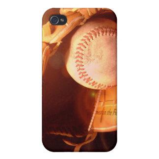 Caso del iPhone 4 del guante de béisbol iPhone 4 Cárcasas