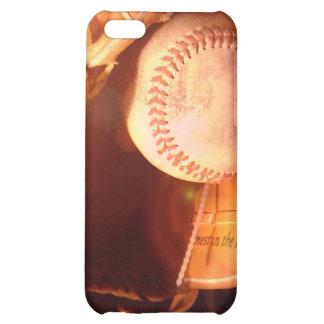 Caso del iPhone 4 del guante de béisbol