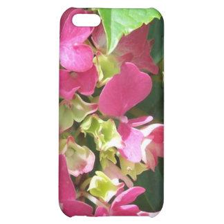 Caso del iPhone 4 del Hydrangea de las rosas fuert