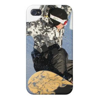 Caso del iPhone 4 del lanzamiento de la snowboard iPhone 4 Cárcasa