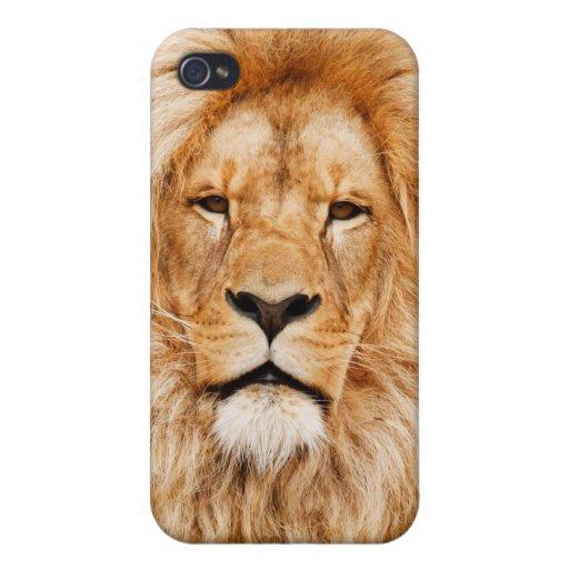 caso del iphone 4 del león iPhone 4/4S carcasa