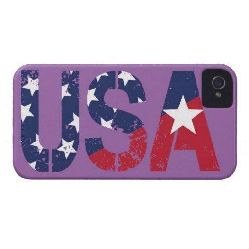 Caso del iPhone 4 del logotipo de los E.E.U.U., Ba iPhone 4 Carcasa