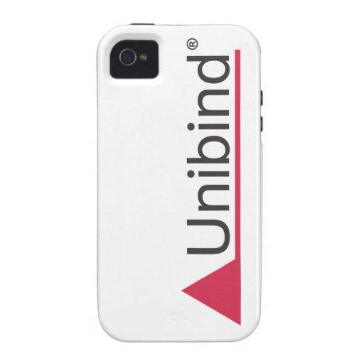 Caso del iPhone 4 del logotipo de Unibind Vibe iPhone 4 Carcasa