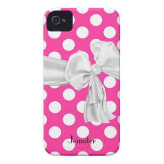 Caso del iPhone 4 del lunar de las rosas fuertes y iPhone 4 Case-Mate Funda