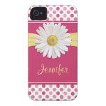 Caso del iPhone 4 del lunar del rosa de la margari