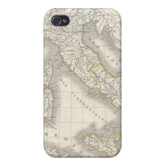 Caso del iPhone 4 del mapa de Italia del Viejo Mun iPhone 4/4S Carcasas