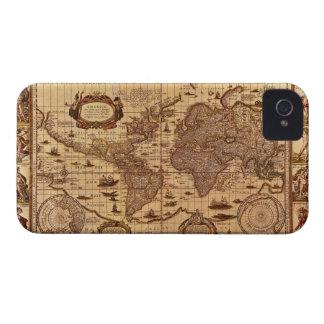 Caso del iPhone 4 del mapa de Viejo Mundo del Carcasa Para iPhone 4 De Case-Mate