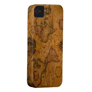 Caso del iPhone 4 del mapa de Viejo Mundo del Case-Mate iPhone 4 Protector