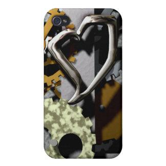 Caso del iphone 4 del mecanismo del corazón iPhone 4 coberturas