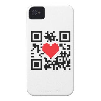 Caso del iPhone 4 del mensaje del amor del corazón Case-Mate iPhone 4 Carcasa