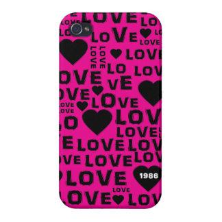 Caso del iPhone 4 del mensaje del corazón del amor iPhone 4 Protector