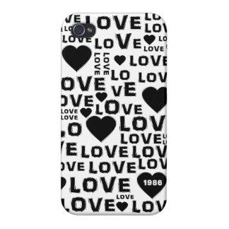 Caso del iPhone 4 del mensaje del corazón del amor iPhone 4/4S Funda