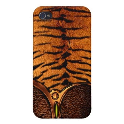 Caso del iPhone 4 del modelo de la piel del tigre iPhone 4 Carcasa