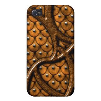 Caso del iPhone 4 del modelo de madera y del cuero iPhone 4 Carcasa