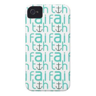 Caso del iPhone 4 del modelo del ancla de la fe iPhone 4 Coberturas