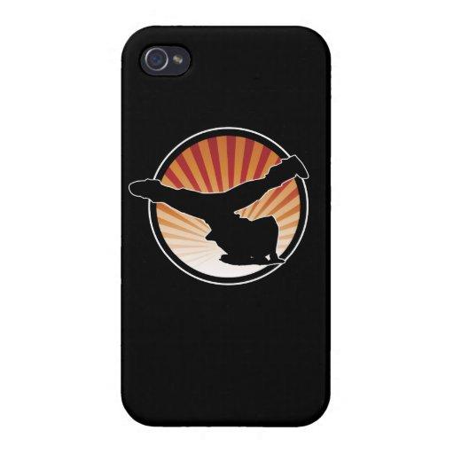 Caso del iPhone 4 del molino de viento de BBOY iPhone 4/4S Funda