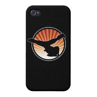 Caso del iPhone 4 del molino de viento de BBOY iPhone 4/4S Fundas