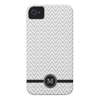Caso del iphone 4 del monograma del galón del blan iPhone 4 Case-Mate protectores