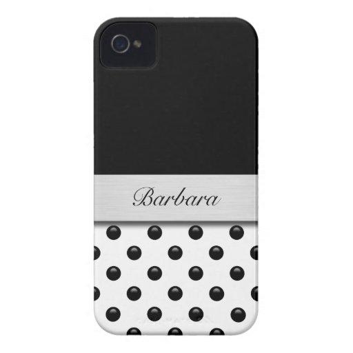 Caso del iPhone 4 del monograma iPhone 4 Case-Mate Carcasa