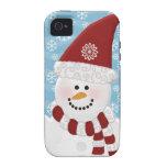 Caso del iPhone 4 del muñeco de nieve Vibe iPhone 4 Carcasas