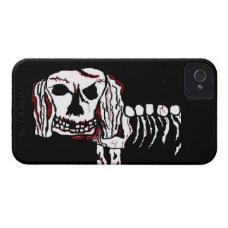 Caso del iPhone 4 del MUTT del ZOMBI del PERRO del Case-Mate iPhone 4 Carcasas