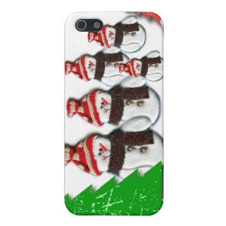 Caso del iPhone 4 del navidad de la familia del mu iPhone 5 Cárcasas