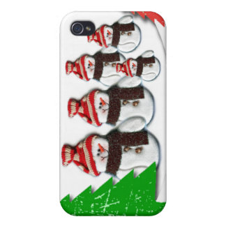 Caso del iPhone 4 del navidad de la familia del mu iPhone 4 Cárcasa