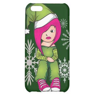 Caso del iphone 4 del navidad del chica de Emo