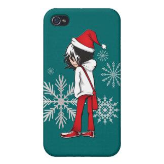 Caso del iphone 4 del navidad del niño de Emo iPhone 4 Fundas