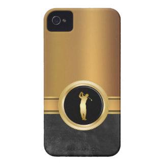 Caso del iPhone 4 del negocio del oro de los hombr iPhone 4 Protectores