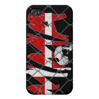 Caso del iPhone 4 del negro del cráneo del Muttahi iPhone 4 Protector